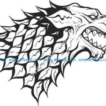 wolf head pattern