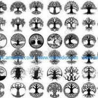 A large collection of Celtic trees