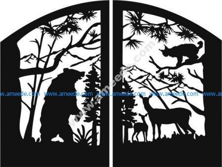 Animal motifs gate