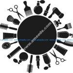 Decorative pattern  hair salon