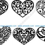 Heart decoration pattern