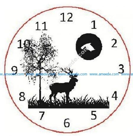 Deer Tree Moon clock
