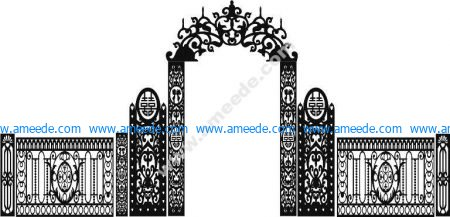 Wedding gate template