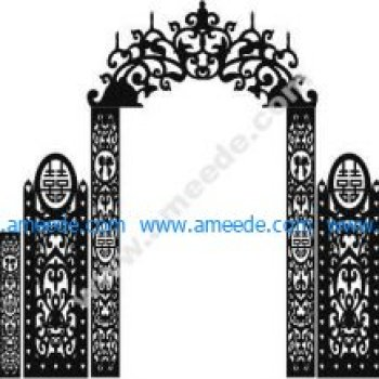 Wedding gate template