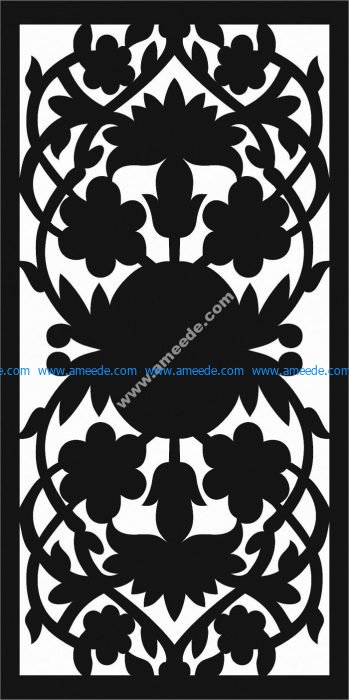cnc cutting partition floral pattern