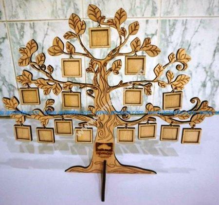 a tree with mini photos