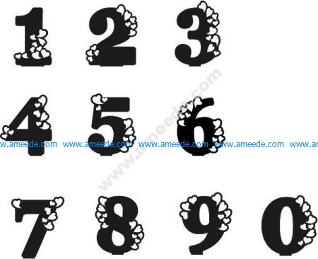 number with heart