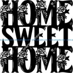 sweet home English calligraphy