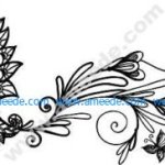 wall decor floral butterfly