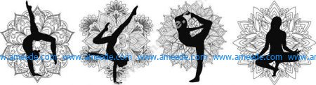 yoga mandala set