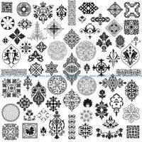 strange unique decorative motifs