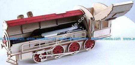 train-shaped wine box
