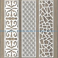 Stone pattern baffle pattern file cdr and dxf free vector download for Laser cut CNC