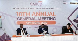Skyway Aviation Handling Company shareholders approve 16.5k dividend for 2019