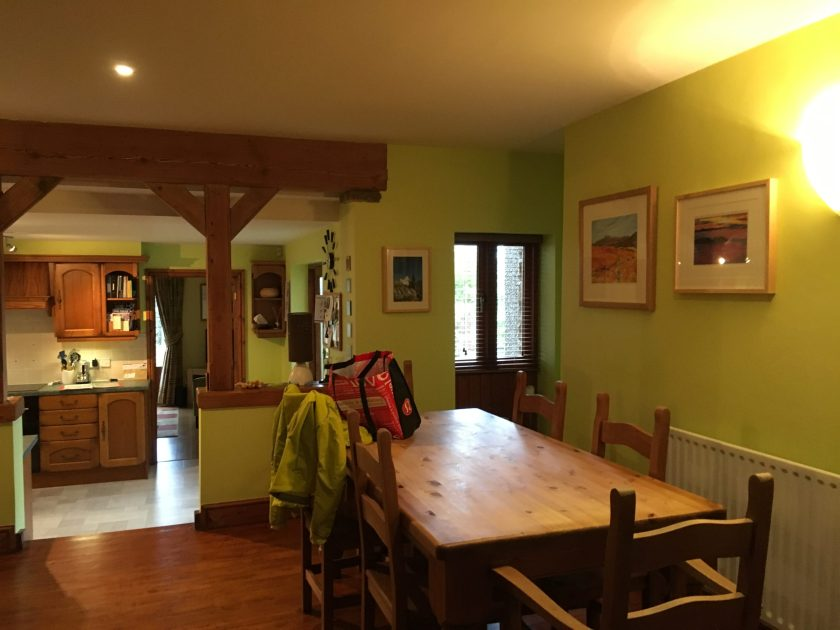 Open plan kitchen dining space interior designer Amelia Wilson Cumbria
