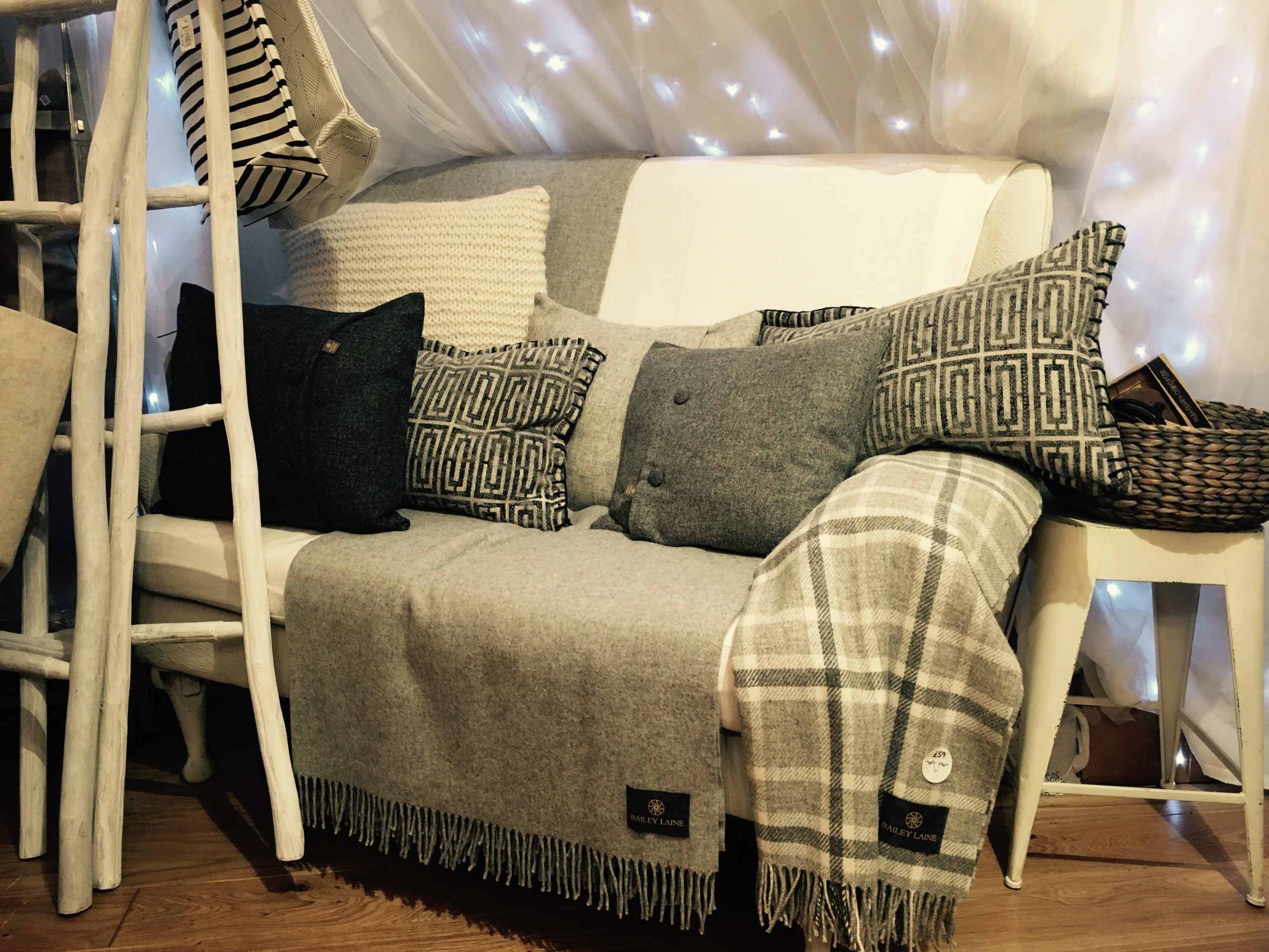 Range of wool throws and cushions from Scandinavian interiors retailer Mi Abode in Uppermill