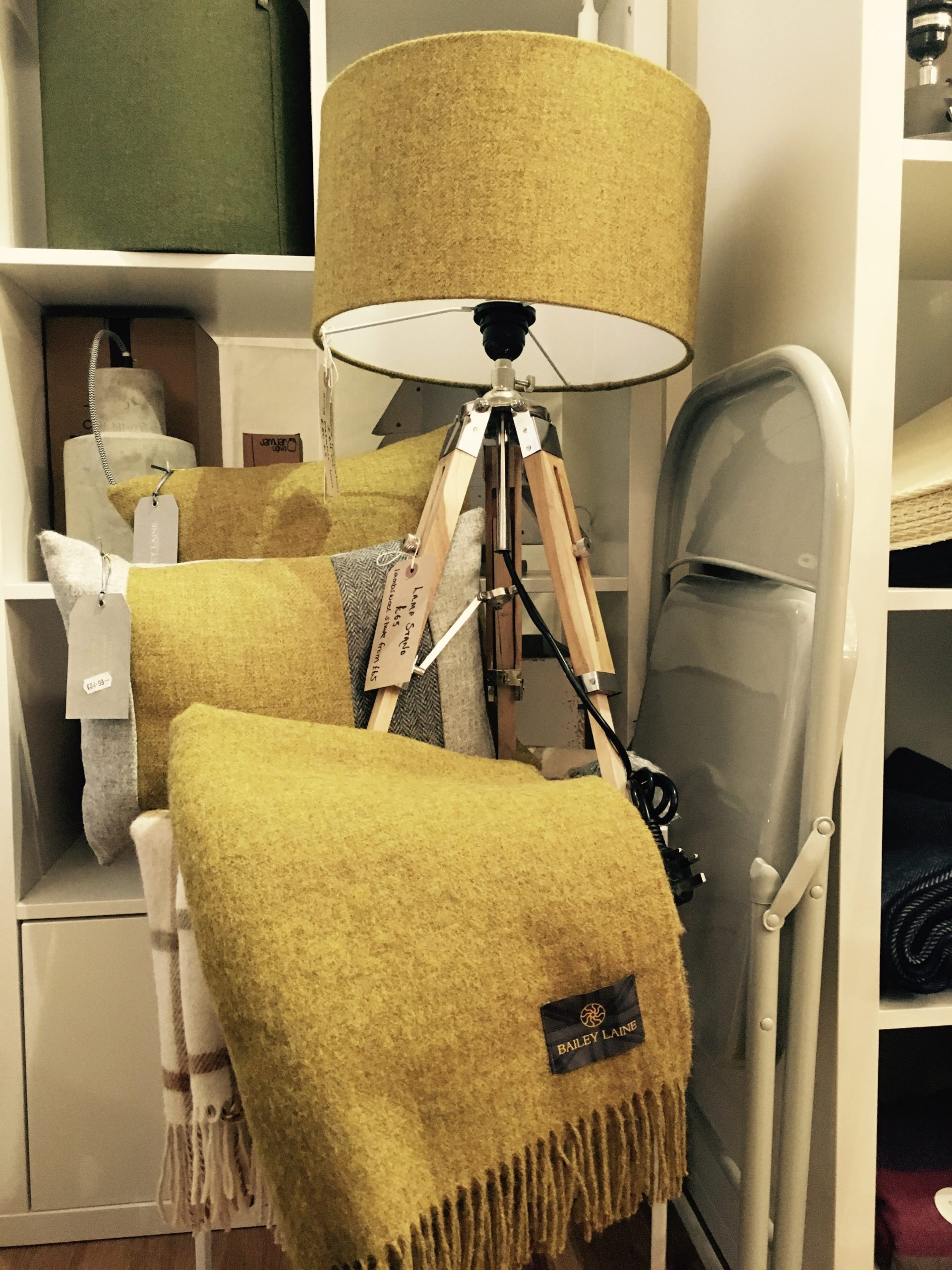 Lighting and soft furnishings from Scandinavian interiors retailer MI Abode in Uppermill
