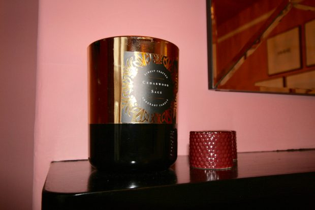 Black and gold scented candle from Homesense. Small candle from H&M home
