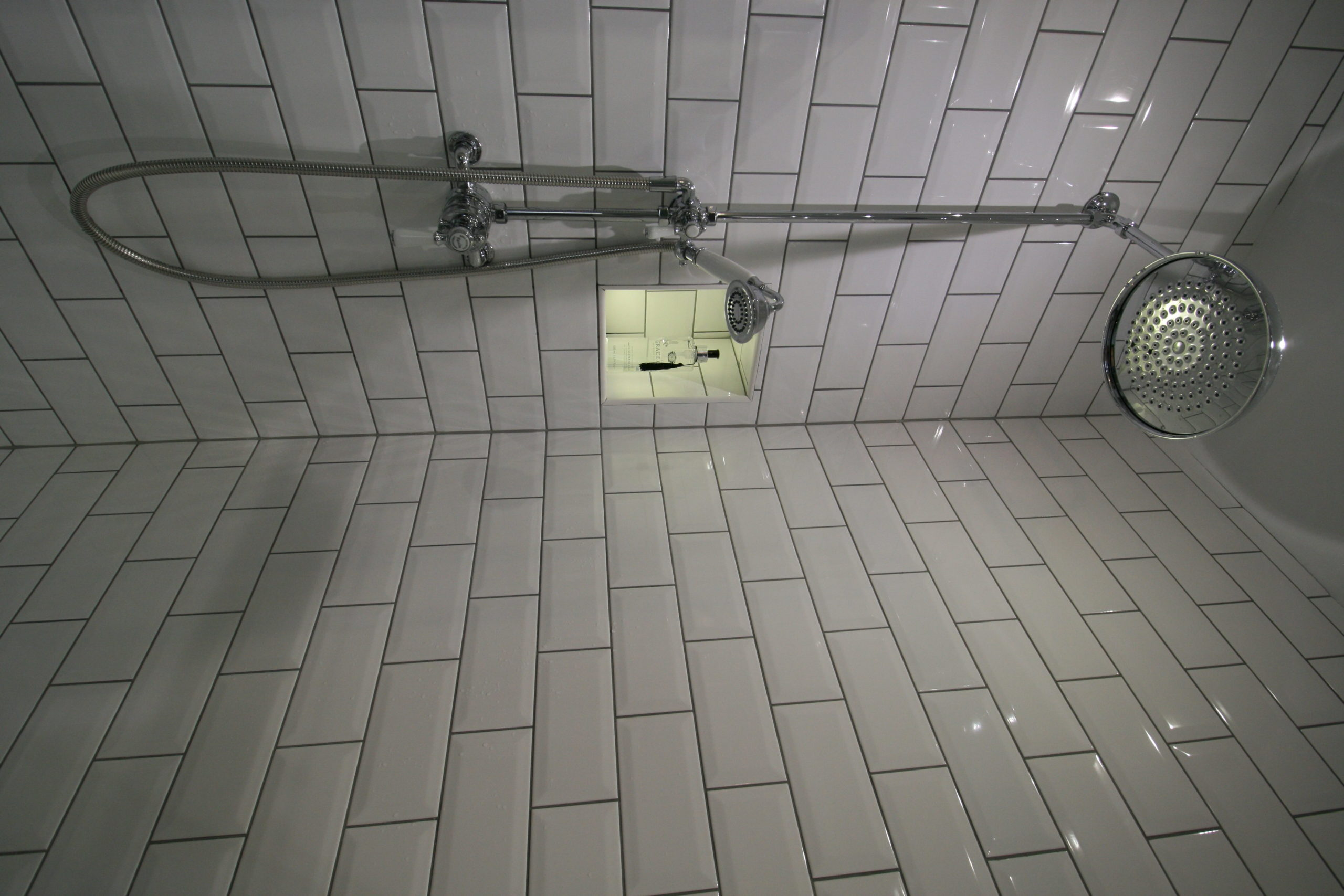 Bathroom - lighting in shower enclosure