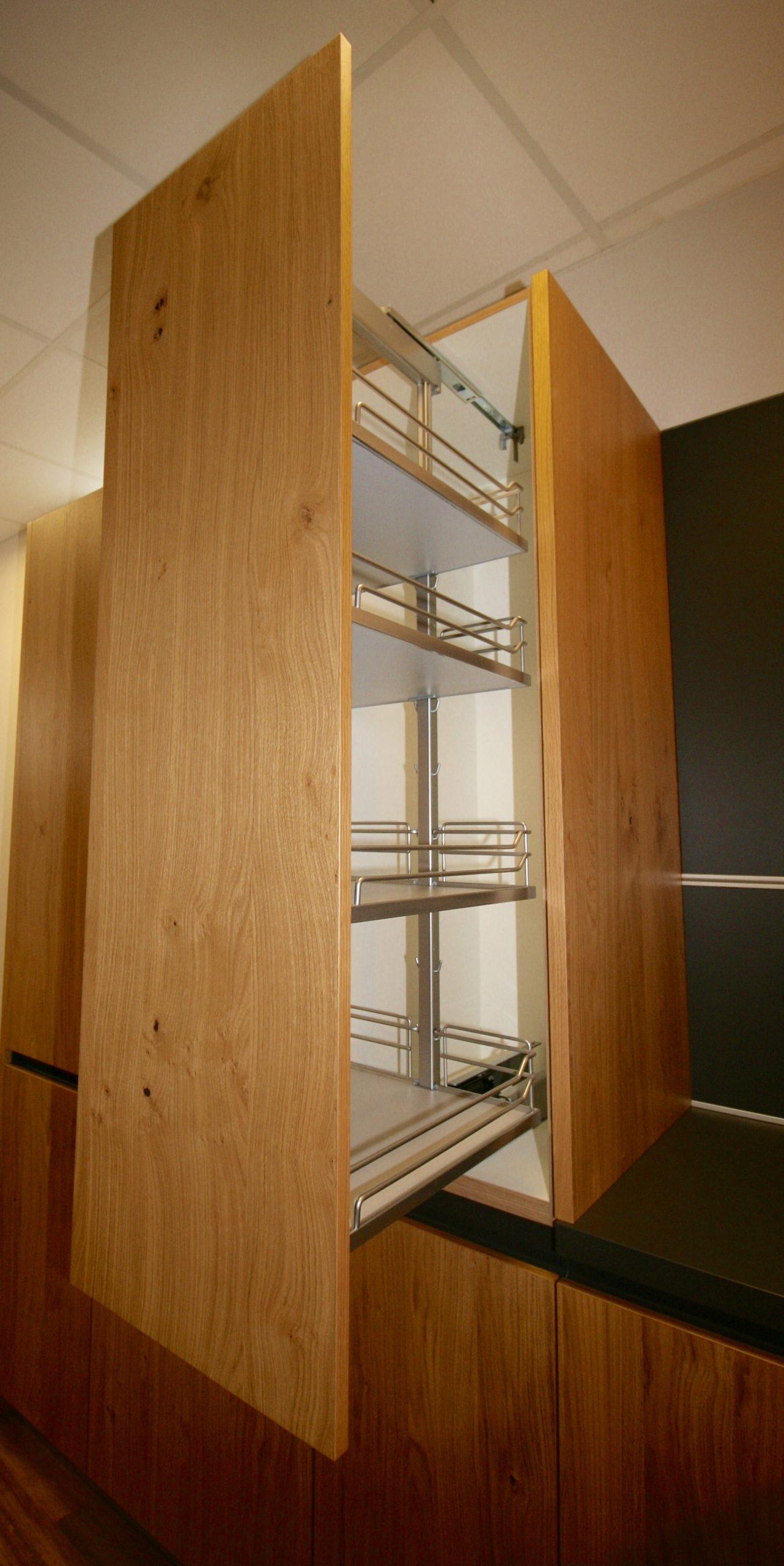Pull out larder storage in kitchen design