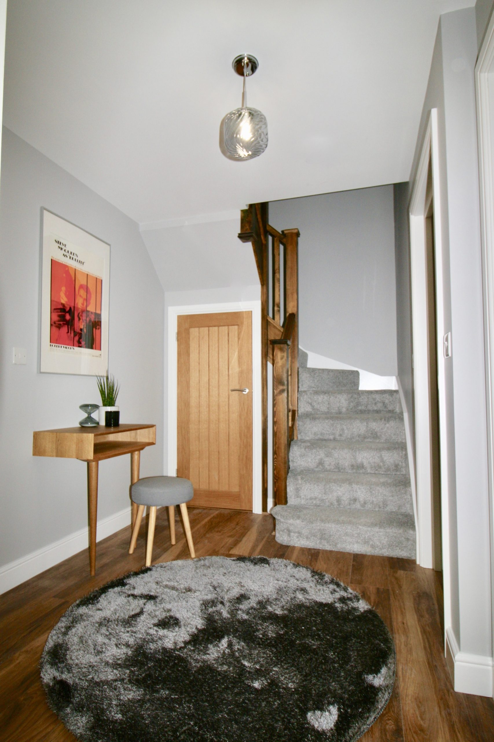 Entrance hall in show home in the John Dalton Apartments on Challoner Street Cockermouth