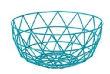 Juxtapose teal geometric wire bowl from House of Fraser