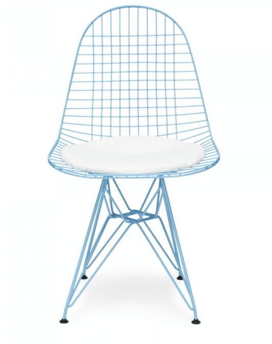 Charles Eames style blue wire chair from Cult Furniture