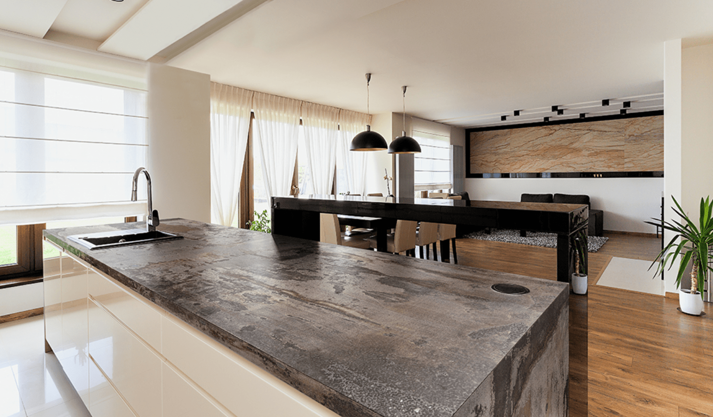 Dekton Trillium worktop by Cosentino inspired by the look of oxidized steel