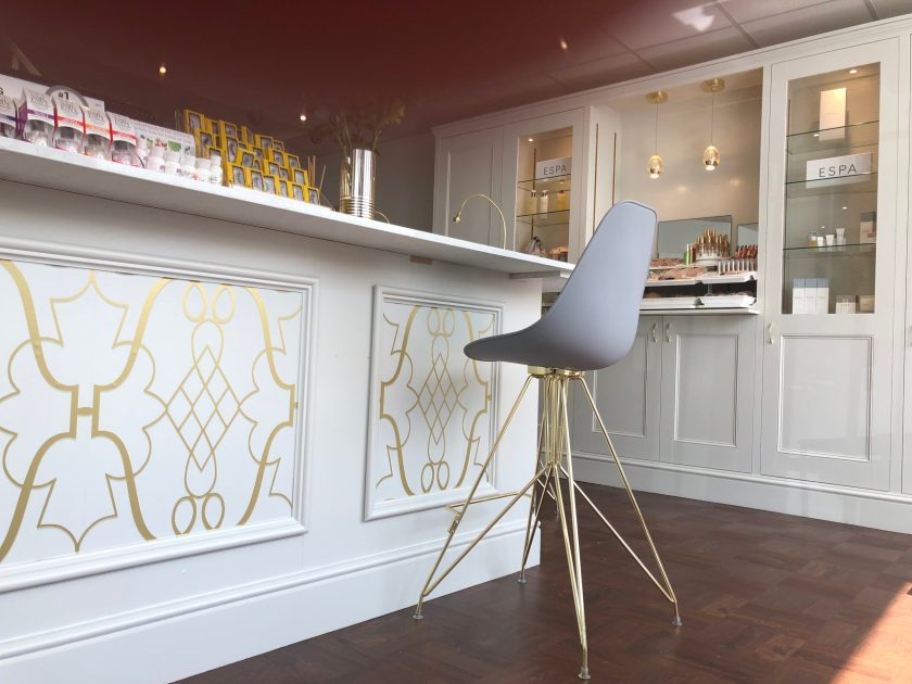 Solo Beauty Workington interior design by Amelia Wilson Interiors Ltd