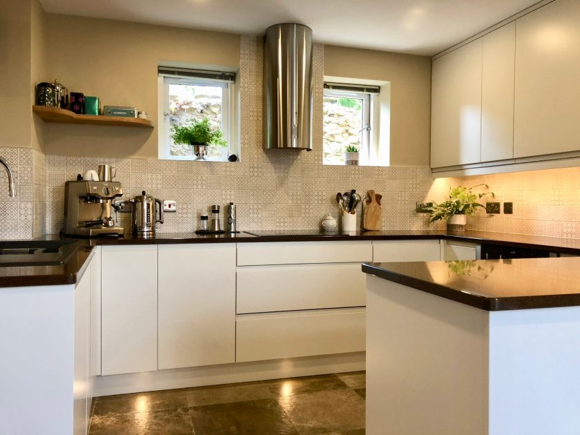 Remo handleless kitchen designed by Amelia Wilson Interiors interior designer Cumbria