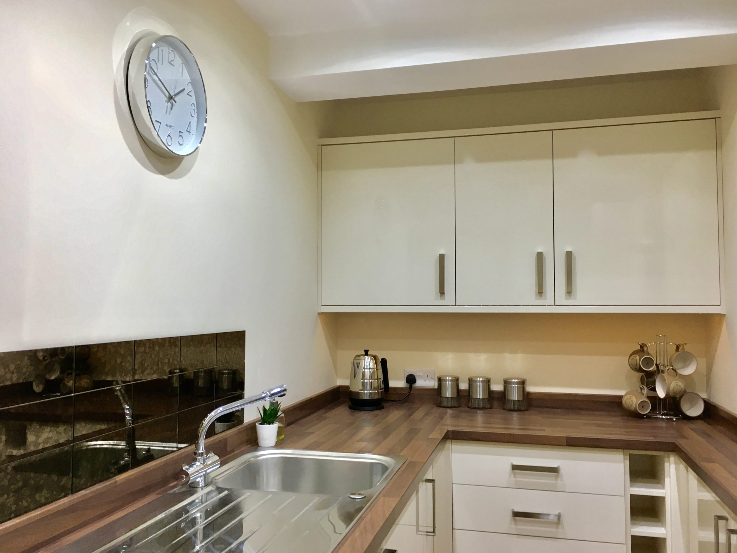 Kitchen in show home at John Dalton Building apartments in Cockermouth
