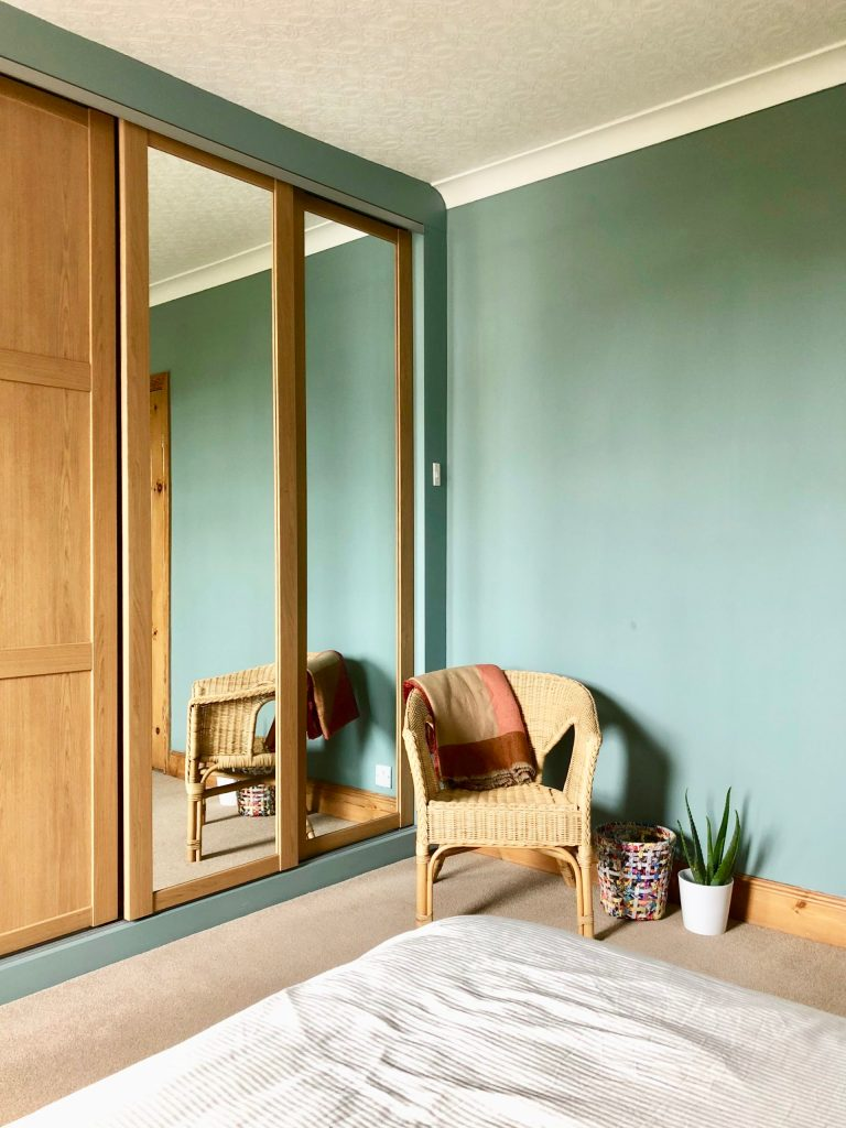 Fitted wardrobes designed by Amelia Wilson interior designer Cumbria