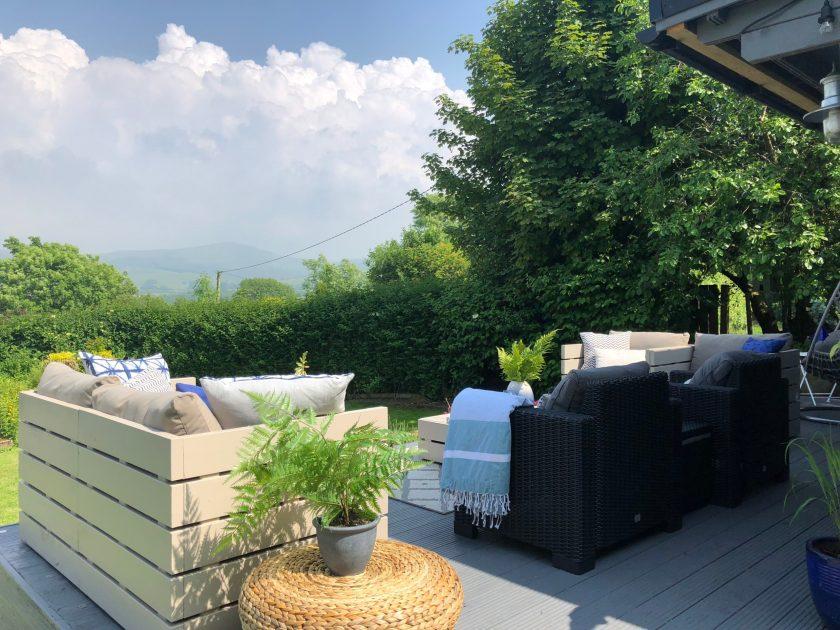 Outdoor living. Faux rattan furniture. Outdoor spaces. Interiors Cumbria