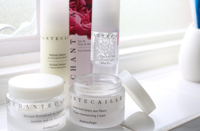 Chantecaille skincare products chantecaille rose water chantecaille flower harmonising cream chantecaille retinol intense