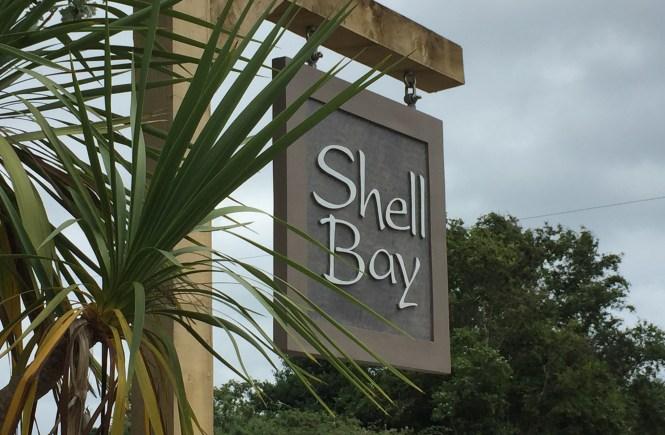 Shell Bay restaurant sign
