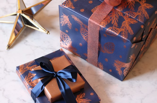 boxed and wrapped gifts