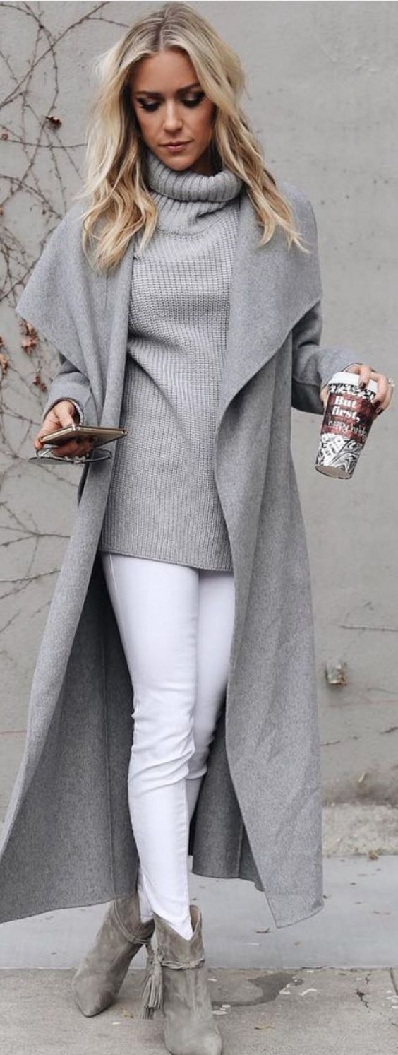Grey and white winter fashion