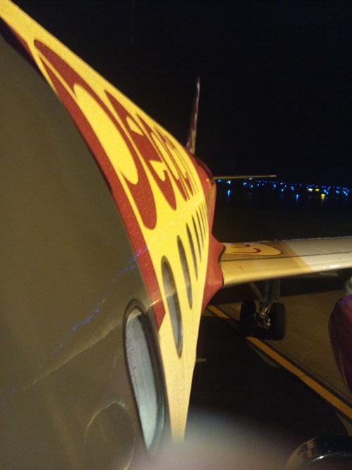 ピーチ航空の飛行機
