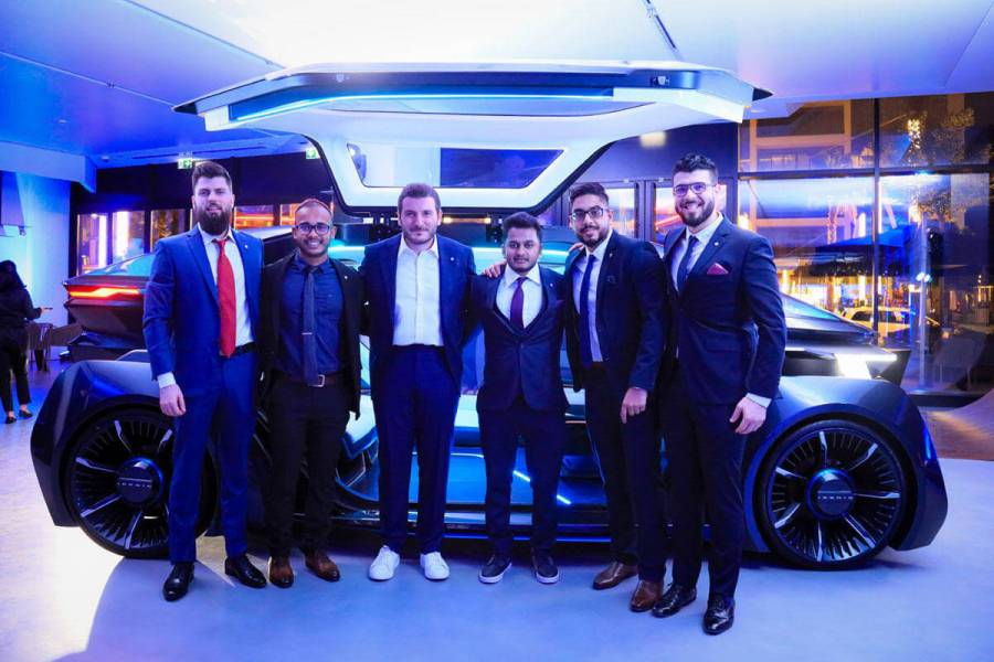 W Motors Founder and CEO with Design Team