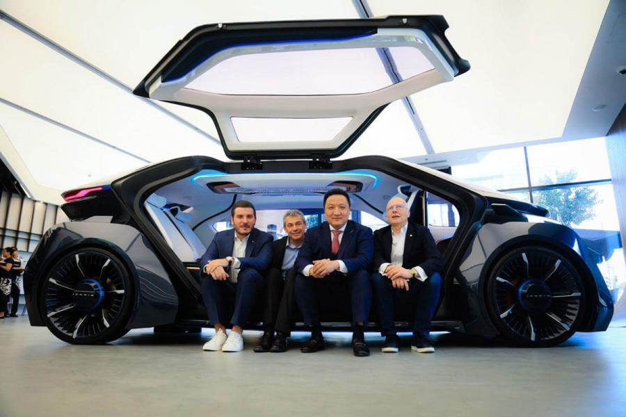 W Motors Founder and CEO with Partners