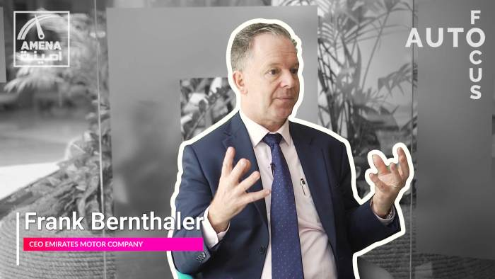 Frank Bernthaler, CEO of Emirates Motor Company