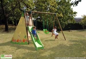 Portique bois pour enfants