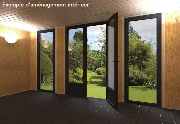 exemple d'aménagement de studio de jardin