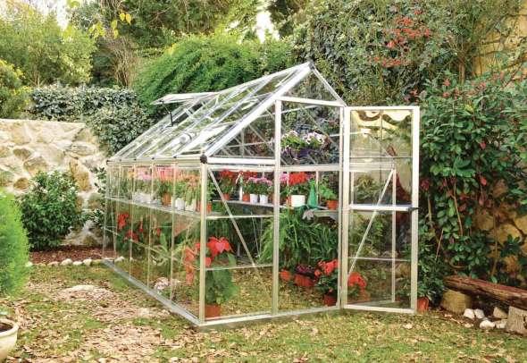 Serre de Jardin Polycarbonate Harmony Silver 5,7m²