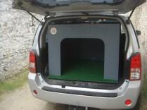 vue de la porte arrière : accès.