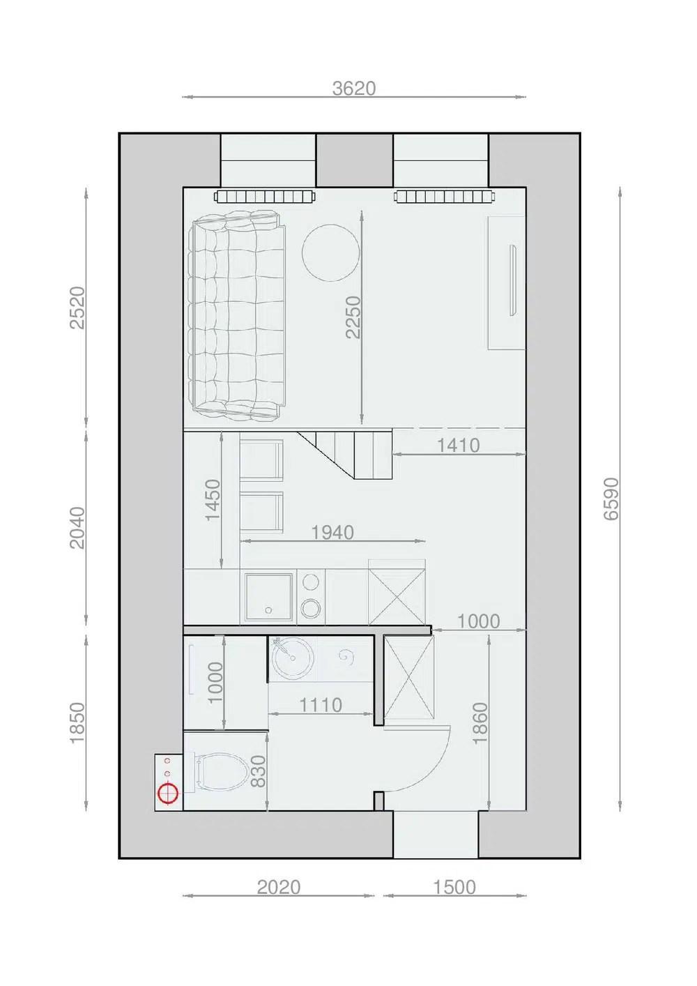 Plans Pour Amnager Et Dcorer Un Appartement De 30m2