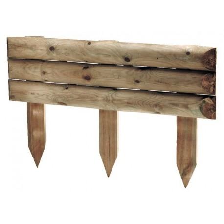 bordure de jardin en bois a planter 100 x 10 x 60 cm