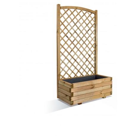 jardiniere en bois rectangulaire avec treillis 80 x 40 x 152 cm