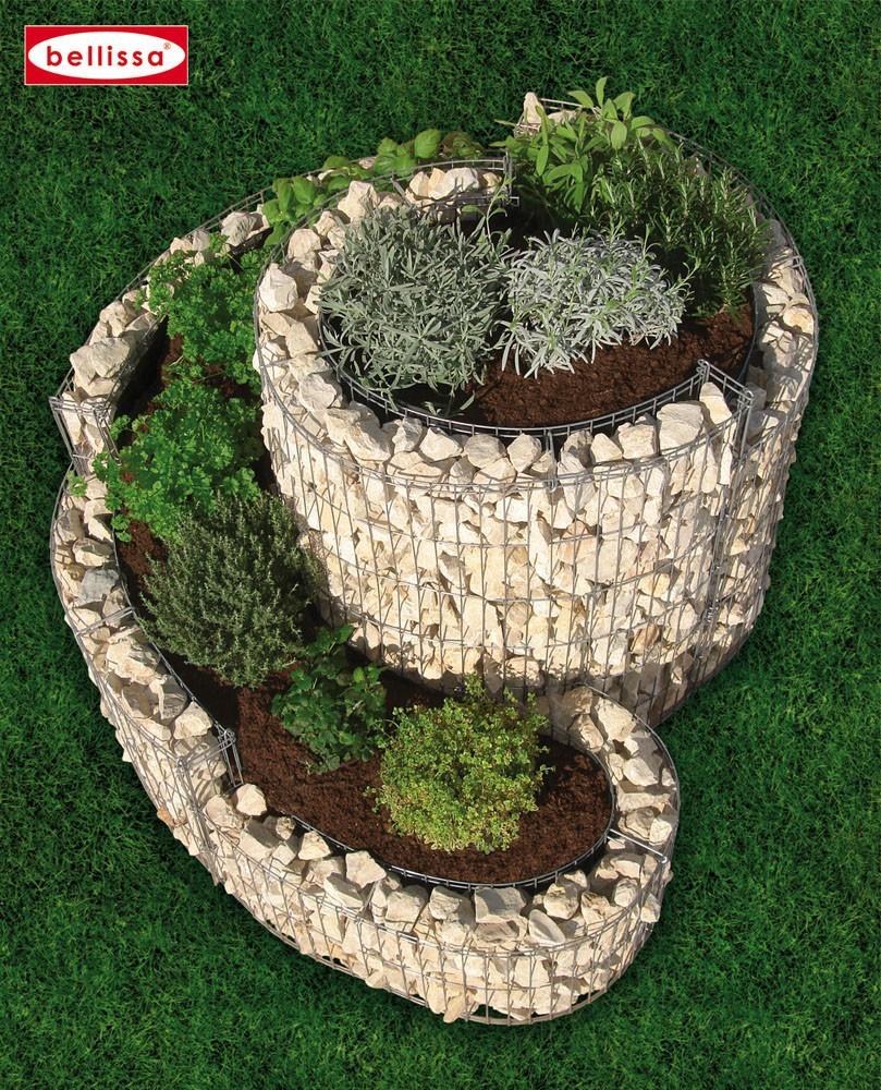 la jardini re gabion en spirale le potager de votre. Black Bedroom Furniture Sets. Home Design Ideas