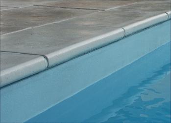 Margelle plate pierre reconstituée pour piscine